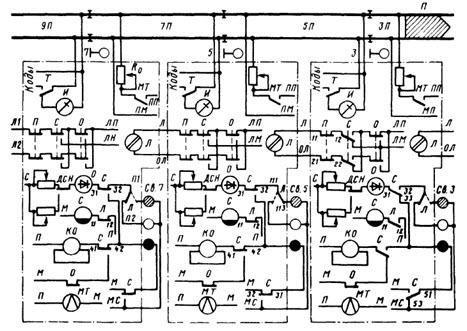 Схемы линейных и сигнальных
